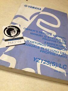 Yamaha YZ125LC S 2004 YZ125 YZ 125 Manual Taller Squire Revisión Técnica
