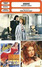 Movie Card. Fiche Cinéma. Ambre / Forever Amber (USA) Otto Preminger 1947