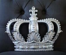 *Silver* Crown Bed Wall Decor Nursery Crib Crown Canopy Princess Wedding Party