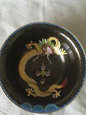 Vintage Chinese Cloisonné Dragon Bowl