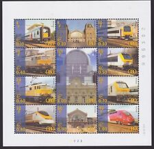 Belgium 2001 - Very Fine MNH Stamp Mini Sheet Cob#TRV-BL3 Railway Train....A4475