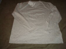 LACOSTE LONG SLEEVE GRAY V-NECK T-SHIRT XL