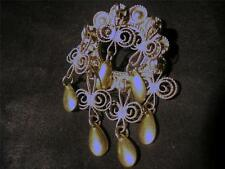 Beautiful Modernist Norway Solid Silver Marriage Brooch,