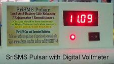 Battery Life Enhancer /Pulsar/Rejuvenator/Reconditioner with Digital Voltmeter