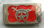 Vintage Western Flair Hand Made Engraved Inlay Shriners Belt Buckle
