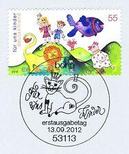 BRD 2012: Kindermarke Nr 2952 mit sauberem Bonner Ersttagssonderstempel! 1A 1806