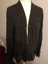Polo Ralph Lauren Men's Grey Casual Button Cardigan Jumper Jacket Large