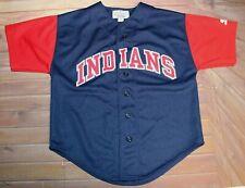 Starter Genuine Merchandise MLB Baseball Cleveland Indians Jersey Youth Medium