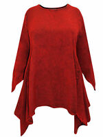 LONG RED MEDIEVAL PRINCESS PLUS SIZE TUNIC TOP 12 14 16 18 20 22 24 26 28 30 32