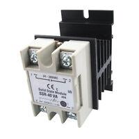Voltage Resistance Regulator Solid State Relay SSR 40A 24-380V AC w Heat Sink DT