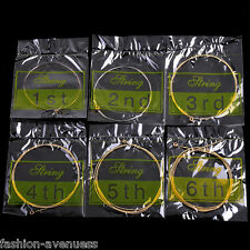 6x/set Bronze Steel Strings For Acoustic Classic Guitar Instrument  Accessories