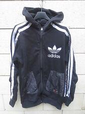 Veste à capuche ADIDAS rétro vintage original noir Trefoil jacket giacca XL