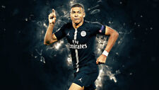 French Kylian Mbappe Paris Saint Germain FC Silk Poster 24 X 14 inch Wallpaper