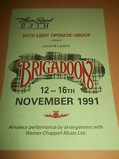 """THEATRE ROYAL BATH """" BRIGADOON """" THEATRE HANDBILL / FLYER 1991"""