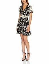 LOOK Mono Floral Dress Black Size UK 12 Dh180 AB 06