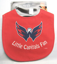 NHL NWT INFANT ALL PRO BABY BIB - ALL RED - WASHINGTON CAPITALS