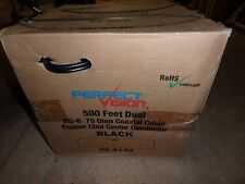 500' foot box of dual twin RG6 Perfect Vision Black Coaxial Cable Dishnetwork
