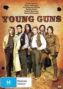 Young Guns DVD - FAST SAME / NEXT DAY POSTAGE - Australian Region 4 PAL