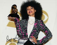 ESPERANZA SPALDING signed (GRAMMY AWARD) 8X10 photo MUSIC *JAZZ* W/COA
