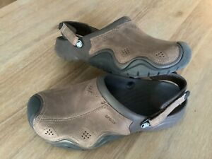 Crocs Leather YUKON Top Adjustable Comfort Shoes Brown Men's Size 13