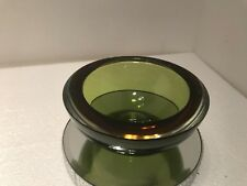 Vintage Murano Sommerso Amber And Green Art Glass Flat Cut Rim Bowl