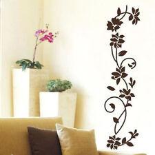Removable Wall Decal Vinyl Sticker Flower Vine Mural Home Bedroom Decor Black