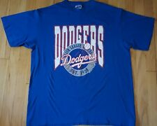Vintage LOS ANGELES DODGERS shirt XL 1990 Trench MLB baseball 90s blue LA