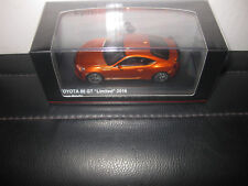 KYOSHO 1/43 TOYOTA 86 GT LIMITED 2016 ORANGE METALLIC AWESOME MODEL CAR  03895P
