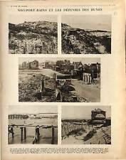 Ruines Nieuport-Bains Belgique Nieuwpoort Dunes Batailles de l'Yser War 1917 WWI