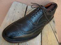 ALLEN EDMONDS Mens Dress Shoes Black Brown Leather Wingtip Oxfords Sz Size 11D