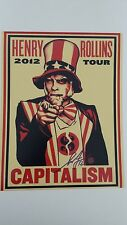 SHEPARD FAIREY signed 11x14 photo - Proof - Henry Rollins