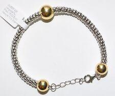 ECHTES Silber 925 Armband- Rhodiniert - Vergoldet 5µ - Länge 20 - 23cm - Top