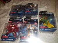 Marvel Avengers playmation set of 5 figures Hulkbuster Vision hawkeye blackwidow