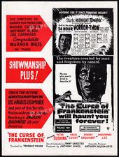 THE CURSE OF FRANKENSTEIN__Original 1957 Trade AD promo__HAMMER__CHRISTOPHER LEE