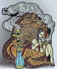 HOOKAH SMOKING JABBA STAR WARS  MARIJUANA, DAB , GRATEFUL DEAD RELIX PIN
