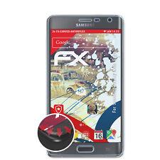 atFoliX 3x Schutzfolie für Samsung Galaxy Note Edge matt&flexibel