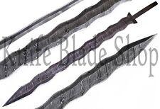 DAMASCUS STEEL KRIS Blank Blade ,SWORD FULL TANG BLANK BLADE  for SWORD making
