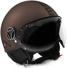 CASCO MOMO DESIGN FIGHTER EVO TABACCO FROST - BLACK TAGLIA M