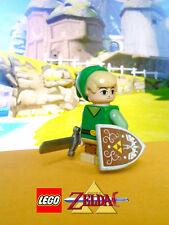 Custom Lego Zelda Wind Waker Toon Link Minifig w/ Phantom Spirit Sword & Shield