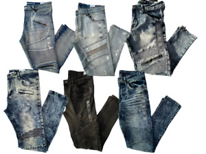 Men rue21 Moto Stitching Skinny Jeans - Multiple Styles - NWT