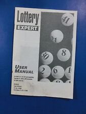 "Lottery Expert PC Version 1992 3.5"" Disk & Guide NO BOX"