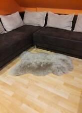Real sheepskin Cappucino 100% natural shaggy soft dense wool Mat/Rug/Carpet