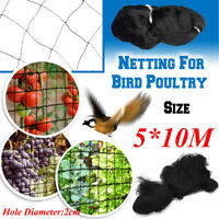 10M Wide x 5M Extra Strong Black Anti Bird Netting for Garden, Allotment or