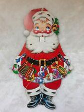 "Vintage Christmas Santa Cardboard Cutout Movable Arms And Legs 17"" Tall"
