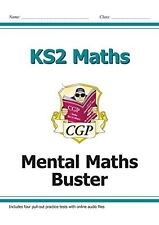 KS2 Maths SAT Buster - Mental Maths (with audio tests) by CGP Books | Paperback