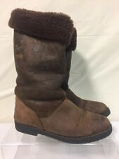 La Canadienne Brown Leather Boots Sz 9.5M Brown Sueded brushed leather winter
