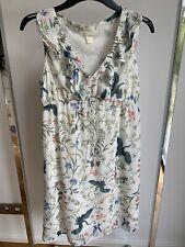 Kleid von H&M Mama, Umstandskleidung, weiß mit Blumen, Gr.S