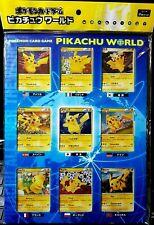 Pokemon Japanese Pikachu World Collection Blue 2010 Holo New Sealed
