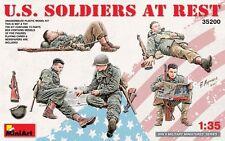 MIN35200-Miniart escala 1:35 - soldados estadounidenses en reposo