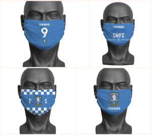 Personalised Sheffield Wednesday FC Face Covering / Mask Official Adult SWFC